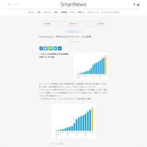 SmartNews、世界2000万ダウンロードを突破