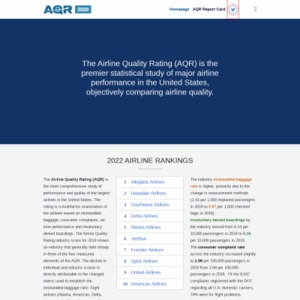 The Airline Quality Rating (AQR) 2017