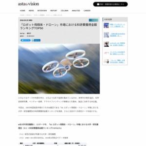 「ロボット飛翔体・ドローン」市場における科研費獲得金額ランキングTOP50