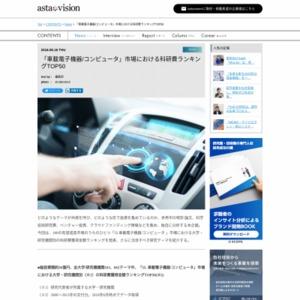 「車載電子機器/コンピュータ」市場における科研費ランキングTOP50