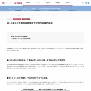2016年6月 首都圏の居住用賃貸物件成約動向