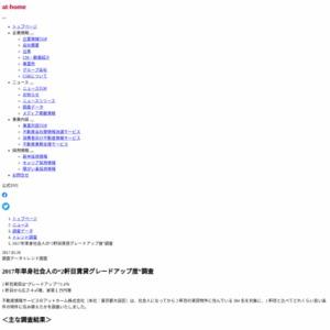 """単身社会人の """"2 軒目賃貸グレードアップ度"""" 調査"""