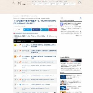 中古カメラレンズ販売ランキング マイクロフォーサーズ編(2015年2月26日~3月4日)