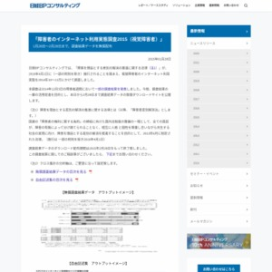 障害者のインターネット利用実態調査2015(視覚障害者)