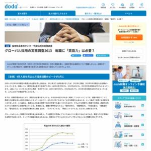 グローバル採用の実態調査2013