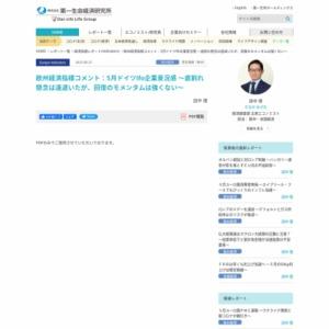 欧州経済指標コメント:5月ドイツIfo企業景況感 ~底割れ懸念は遠退いたが、回復のモメンタムは強くない~