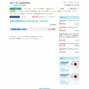 主要経済指標予定(2013年12月16日~12月20日)
