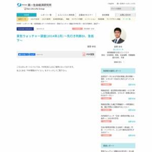 景気ウォッチャー調査(2014年2月) ~先行き判断DI、急低下~