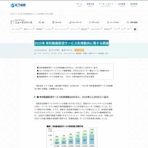 2015年 有料動画配信サービス利用動向に関する調査