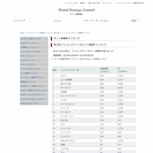 第10回:ファミレスサイトのネット視聴率ランキング(2013)