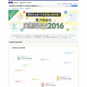 電力自由化 実態調査2016