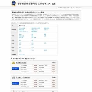 オリコン日本顧客満足度ランキング 『カラオケボックス』