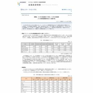 銅需給、2015年の供給過剰は下方修正、2016年も供給過剰