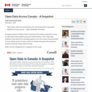 Open Data Across Canada - A Snapshot