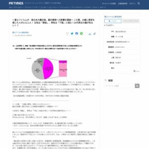 ~富士フイルムが 東日本大震災後、腸内環境への影響を調査~ この夏、お腹に異常を感じた人が2人に1人! 女性は「便秘」、男性は「下痢」に悩む!20代男女の腸が危ない!?
