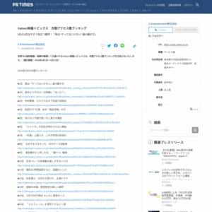 Yahoo!映像トピックス 月間アクセス数ランキング 2016年5月