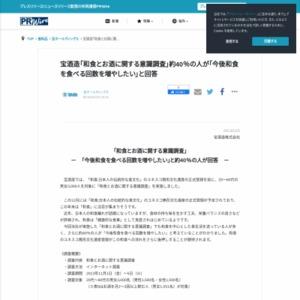 和食とお酒に関する意識調査