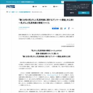 働く女性の乳がんと乳房再建に関するアンケート調査