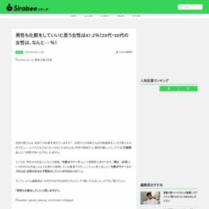 男性も化粧をしていいと思う女性は47.2%!20代・30代の女性は、なんと○○%!