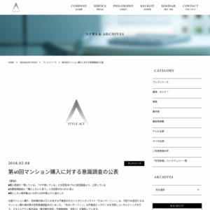 第40回マンション購入に対する意識調査の公表
