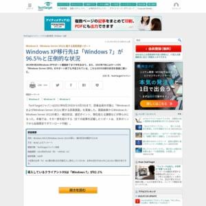 Windows 8/Windows Server 2012に関する読者調査リポート