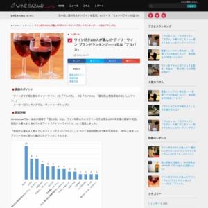 """ワイン好き200人が選んだ""""デイリーワイン""""ブランドランキング――1位は「アルパカ」"""
