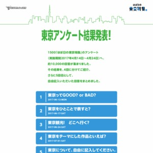 1500「ほぼ日の東京特集」のアンケート