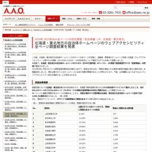 2014年-2015年Aion全ページJIS対応調査「自治体編(4)北海道・東北地方」