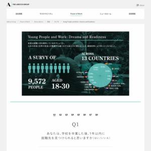 世界の若者9,500 人を対象にした就職に関する意識調査