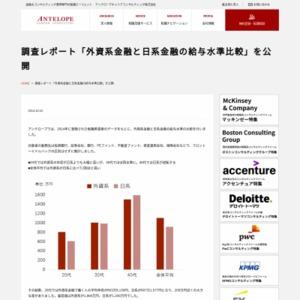外資系金融と日系金融の給与水準比較