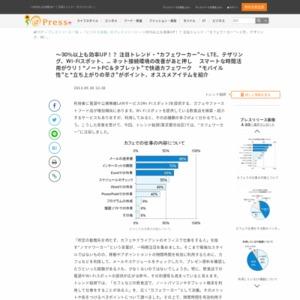 """""""カフェワーカー""""に関する調査"""