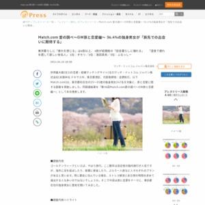 Match.com 愛の調べ~GW旅と恋愛編~