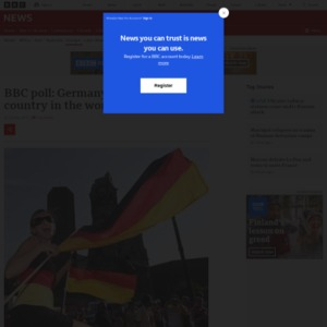 BBC poll: Germany most popular country in the world
