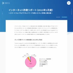 インターネット詐欺リポート(2013年1月度)