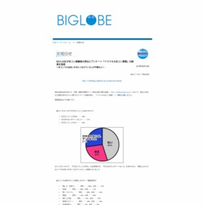 BIGLOBEが合コン経験者の男女にアンケート『イマドキの合コン事情』の結果を発表