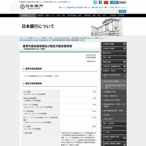 基準外国為替相場及び裁定外国為替相場(2014年6月分)