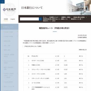 報告省令レート(2月分)