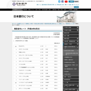 報告省令レート(2014年6月分)