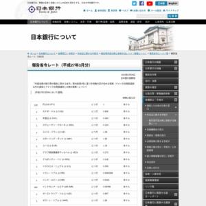 報告省令レート(2015年3月分)