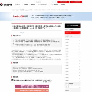 東日本大震災から3年 働く主婦層への意識調査