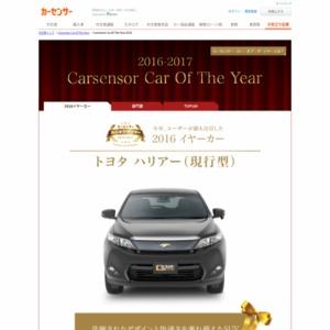 カーセンサー・カー・オブ・ザ・イヤー 2016-2017