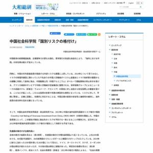 中国社会科学院「国別リスクの格付け」