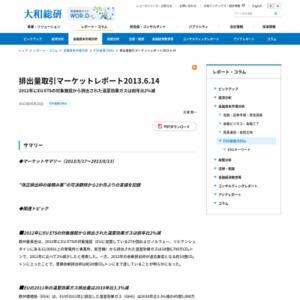 排出量取引マーケットレポート2013.6.14