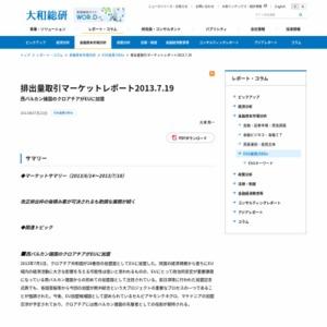 排出量取引マーケットレポート2013.7.19