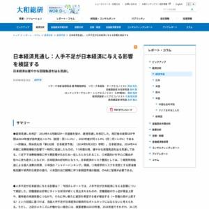 日本経済見通し:人手不足が日本経済に与える影響を検証する