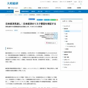 日本経済見通し:日本経済のリスク要因を検証する