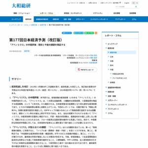 第177回日本経済予測(改訂版)