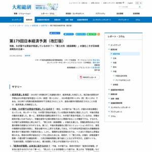 第179回日本経済予測(改訂版)