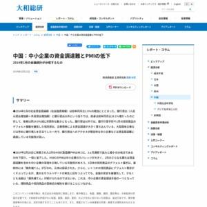 中国:中小企業の資金調達難とPMIの低下