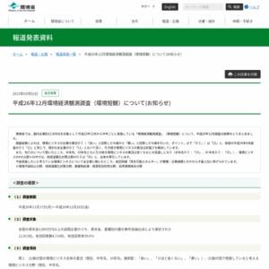 平成26年12月環境経済観測調査(環境短観)